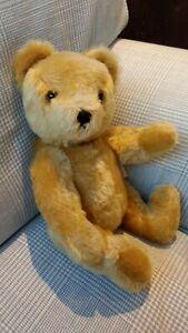 "Vintage Teddy Bear's Picnic Musical Hermann German 11"" Golden Mohair"