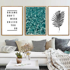 Wall Art Decor Painting - Dream Don't Work 3 Piece Canvas Prints (UNFRAMED)