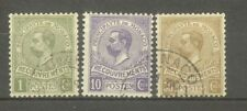 "MONACO STAMP TIMBRE TAXE N° 8/10 "" PRINCE ALBERT 1er 1910 "" OBLITERES TB"