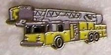 Hat Lapel Tie Tac Push Pin Fire Ladder Truck yellow NEW