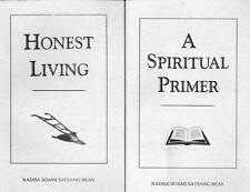 RADHA SOAMI SATSANG BEAS LOT OF 2 BOOKS SPIRITUAL PRIMER & HONEST LIVING
