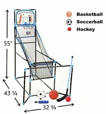 New listing Indoor Basketball Hoop Arcade Game Room Kids Ball pump Family Soccer Hockey Game
