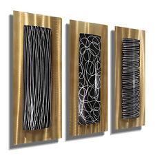Statements2000 3D Metal Wall Art Panels Modern Gold Black Home Decor Jon Allen