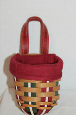 2009 LONGABERGER HOLIDAY SWEETS BASKET, EXTRA SMALL FOYER FABRIC, PROTECTOR