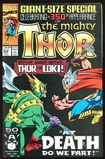 The Mighty Thor #432 Brother Against Brother At Death Do Us Part vs Loki *B*