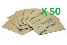 50x Genuine Pacvac Superpro Paper Dust Bags suit Superpro 700 Backpacks AF101