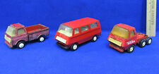 Vintage Tonka Red Metal Semi Truck Hauler & Van Plus Small Truck Toy USA Lot 3