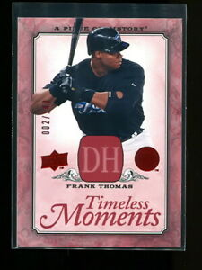 FRANK THOMAS 2008 UD PIECE OF HISTORY TIMELESS MOMENTS RED #d 002/149