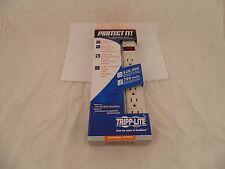 TRIPP LITE TLP604 Surge Suppressor 6 Outlet 4ft White Retail 22-4