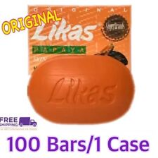 ORIGINAL LIKAS PAPAYA SKIN WHITENING HERBAL SOAP 100 Bars/1 Case