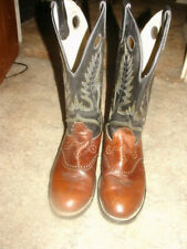 Durango Brown/Black Leather Cowboy Western Boots Mens Size 9.5 EE