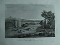 1845 Zuccagni-Orlandini Veduta del Nuovo Ponte sulla Dora a Torino