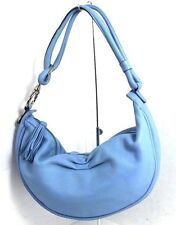 FOSSIL LIGHT BLUE GENUINE LEATHER SHOULDER BAG BAGUETTE EVENING HANDBAG