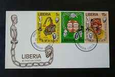 Africa - Liberia 1978 First Day Cover * Tribal Masks On 3 Stamps