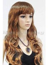 Brand New Female Mannequin Wig ,Long Dark Brown Hair for Mannequin Head #WG-T23