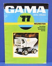 Gama 1977 Catalog Toys Diecast Novelties