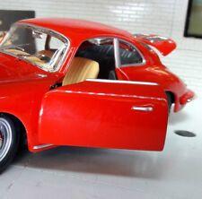 G LGB 1:24 Echelle Rouge Porsche 356 Coupe 1961 détaillé Voiture Miniature 22079