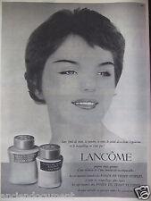 PUBLICITÉ 1959 LANCÔME FONDS DE TEINT SOUPLES OU FLUIDES - ADVERTISING
