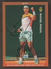2015 Epoch Tennis Indian Aces Rafael Nadal Signed AUTO 5/10