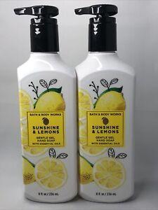 2x BATH & BODY WORKS GENTLE GEL HAND SOAP WASH SUNSHINE & LEMONS 8 OZ NEW