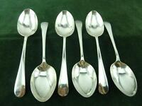 6 Vintage Frank Cobb & Co Dessert Spoons Old English pattern EPNS Silver plate