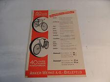 altes Prospekt Anker Werke Fahrrad