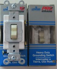 9 Leviton 15A Heavy Duty Grounding Switches 5501-2IS