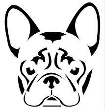 Custom Vinyl Car Decal French BullDog Frenchie Face Head Sticker