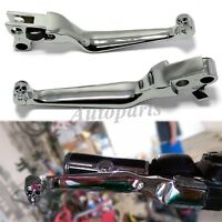 Chrome Hand Levers Brake Lever & Clutch Lever for Harley Hand Controls 1996-2006