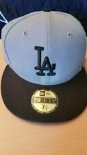 New Era 59Fifty Los Angeles LA Dodgers Game Fitted Hat Black/Gray  MLB Cap