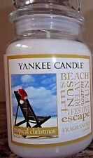 Yankee Candle   NEW  ~~ Tropical Christmas ~~   22 oz. Single.  Free Shipping.