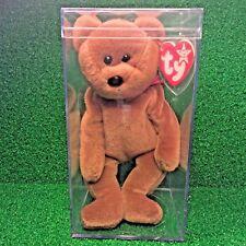 Nearly Extinct 1993 Ty Beanie Baby Teddy Bear WHITE STAR PVC Canadian Tush MWMT