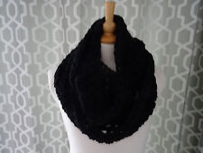 super chunky infinity scarf / snood /  infinity scarf hand crafted crochet black