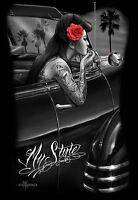 DGA Day of the Dead Dia de Los Muertos Canvas Wall Art 12x16 Inch My Style Rose