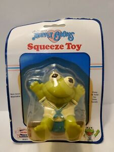 Jim Henson Muppet Babies Kermit Vintage Squeeze Pal Toy by Remco Baby 1989 Read