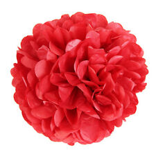 10Pcs Tissue Paper Pompoms Pom Poms Flower Balls Fluffy Wedding Party ZH