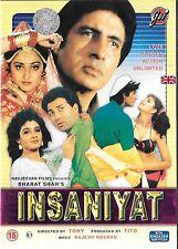 INSANIYAT - AMITABH BACHAN - SUNNY DEOL - NEW BOLLYWOOD DVD