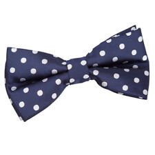 DQT Woven Polka Dot Royal Blue Formal Casual Classic Mens Pre-Tied Bow Tie