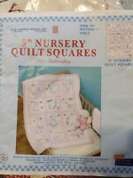 Jack Dempsey Needle Art #21, Girls, Embroided Nursery Quilt, Partially Completed