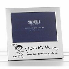 "I Love My Mummy Photo Frame Silver 5""x3.5"" 13x9cm Shudehill Mother Gift 73507"