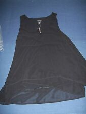 White House Black Market Black Blouse XS New With Tags