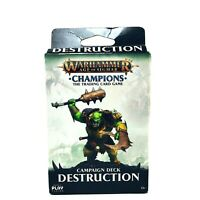 Warhammer Age of Sigmar Champions TCG Armor Orc Playmat /& Booster Pack x5 Bundle