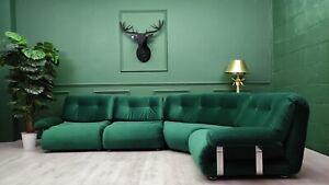 Gplan Vintage Retro Mid Century Green Modular 4 seater corner Sofa by Km Wilkins