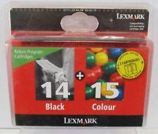 Cartuchos de tinta tricolor compatibles para impresora Lexmark