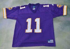 Vintage Adidas NFL Minnesota  Vikings Duante Culpepper #11 Jersey Size M.