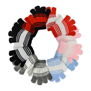 Infants Gloves Cute Soft Striped Gloves Warm Winter Accessories Cute Colors