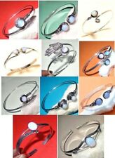 Fire Opal Stone 925 Sterling Silver Plated Bangle Cuff Bracelet Jewelry A