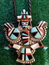 Old Pawn Gorgeous Bola Tie, Inlay Fire Bird
