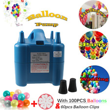 Portable High Power Two Nozzles Air Blower Electric Balloon Inflator Pump &Gifts