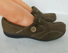 CLARK'S BENDABLE COMFORT BROWN SUEDE LEATHER  WORK SHOES SZ  US 10M